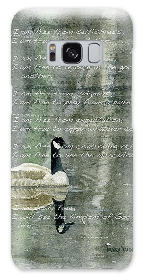 Free Galaxy S8 Case featuring the painting I Am Free by Mary Tuomi
