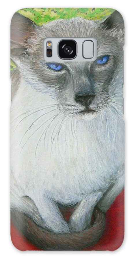 Siamese Galaxy Case featuring the painting I Am Siamese If You Please by Minaz Jantz