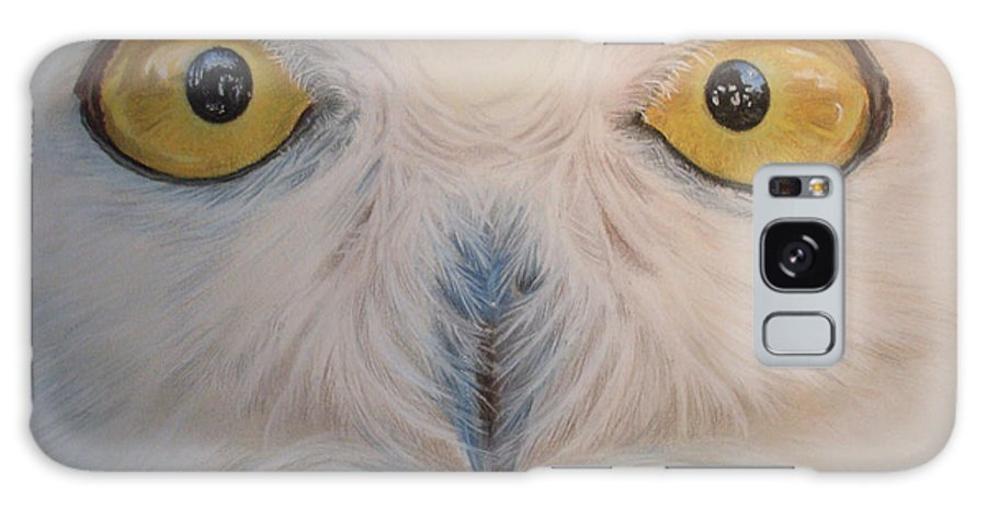 Snowy Owl Galaxy S8 Case featuring the painting I Am Watching You by Irisha Golovnina