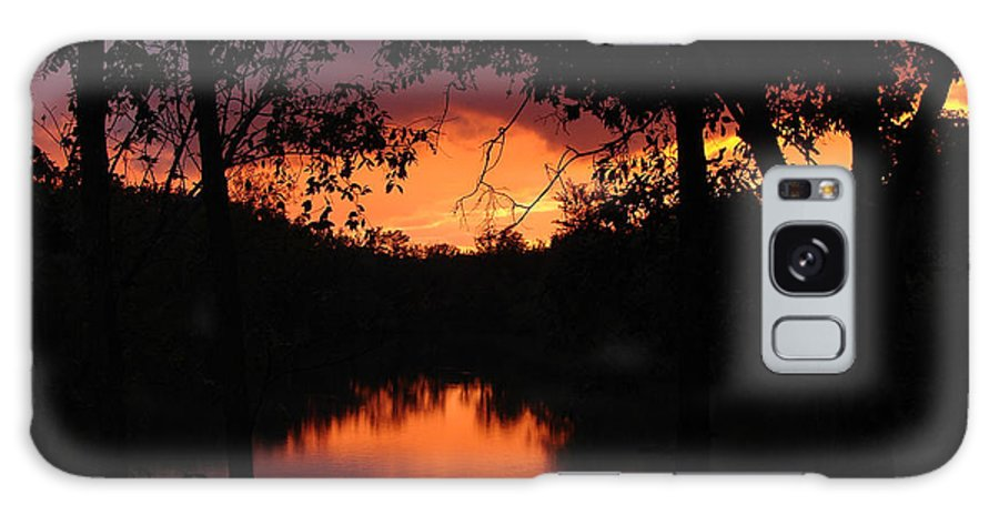 Sunset Galaxy Case featuring the photograph I Found Red October by J R Seymour