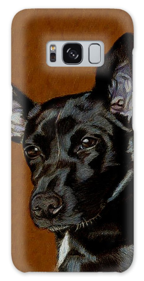 Dog Galaxy S8 Case featuring the painting I Hear Ya - Dog Painting by Patricia Barmatz