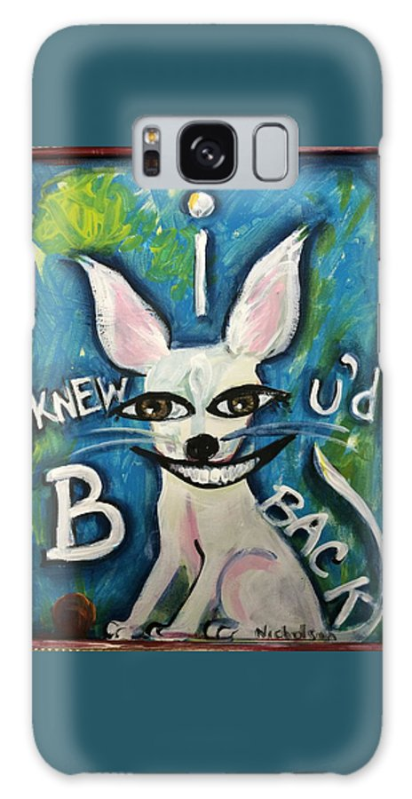 White Dog Galaxy S8 Case featuring the painting I Knew by Sandra Dee