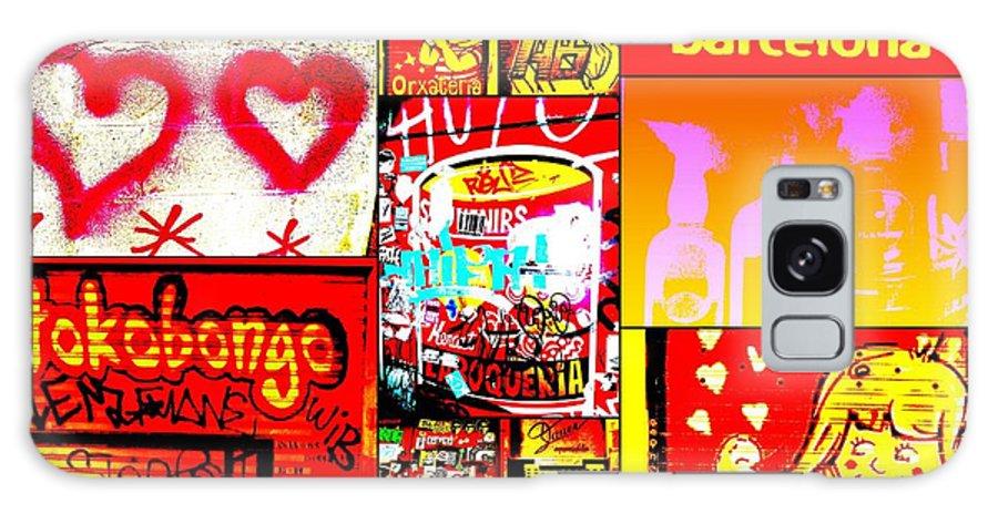 Graffiti Galaxy S8 Case featuring the photograph I Love Barcelona by Funkpix Photo Hunter