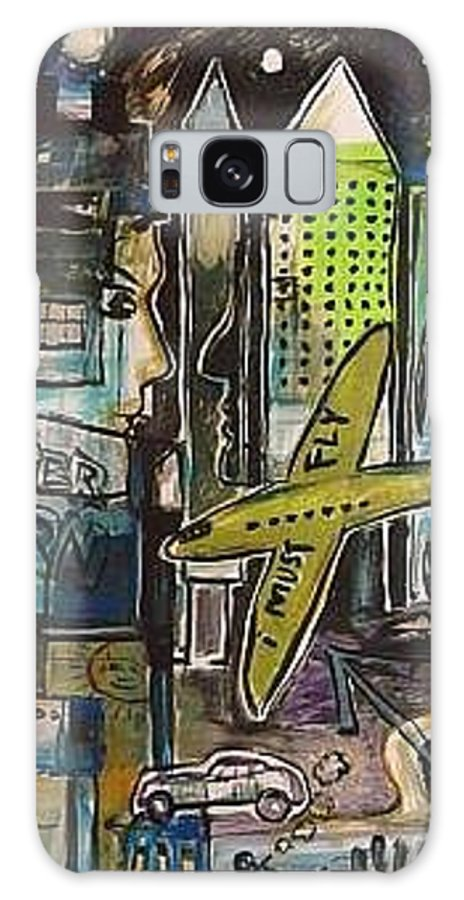 Graffiti Galaxy S8 Case featuring the painting I Must Fly by Gerard Paradisi