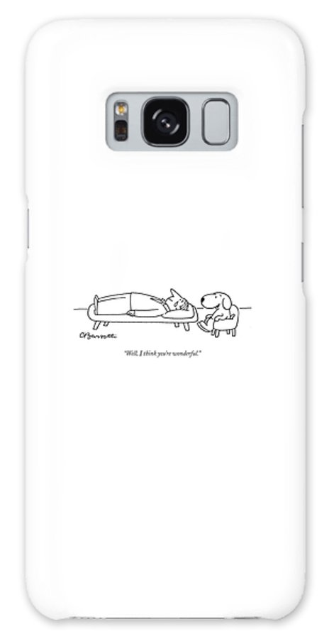 """well Galaxy Case featuring the drawing I Think You Are Wonderful by Charles Barsotti"