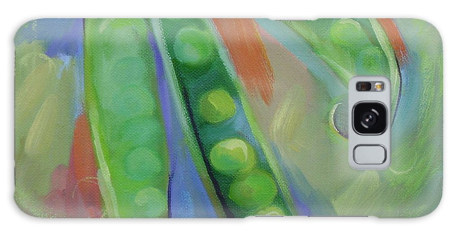 Peas Galaxy S8 Case featuring the painting I Wish You Peas by Ginger Concepcion