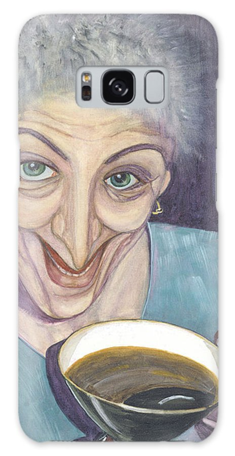 Portrait Galaxy S8 Case featuring the painting I Would Like To Try This One by Olga Alexeeva