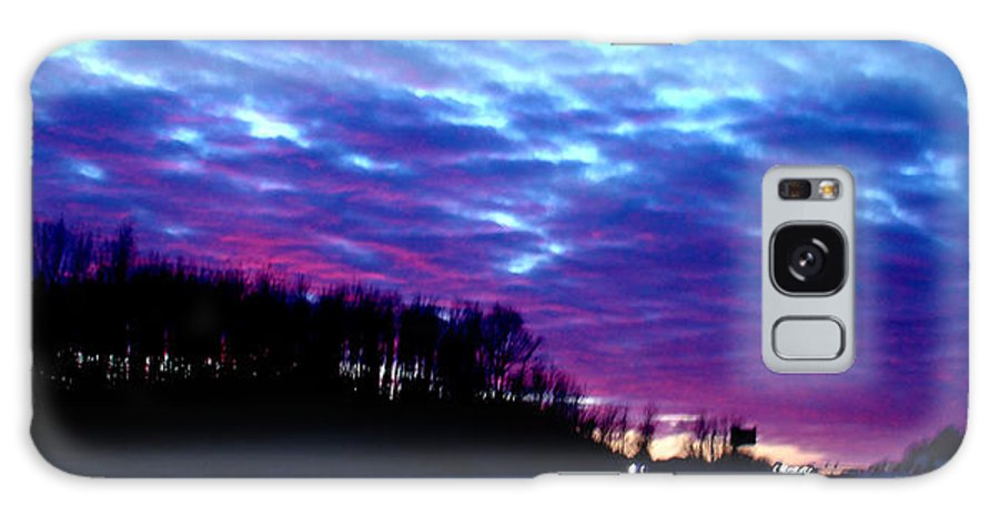 Landscape Galaxy Case featuring the photograph I70 West Ohio by Steve Karol