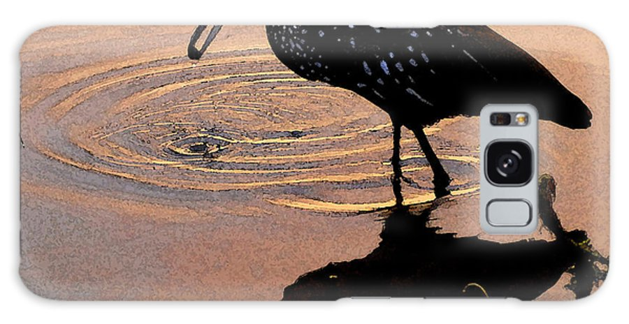 Ibis Galaxy S8 Case featuring the painting Ibis At Dusk by David Lee Thompson