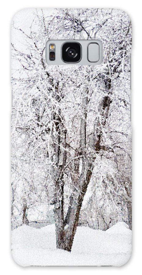 Tree Galaxy S8 Case featuring the painting Ice Covered Trees One Painted by Peter J Sucy