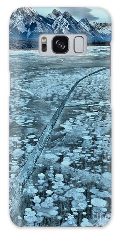 Abraham Lake Galaxy S8 Case featuring the photograph Ice Cracks And Bubbles by Adam Jewell