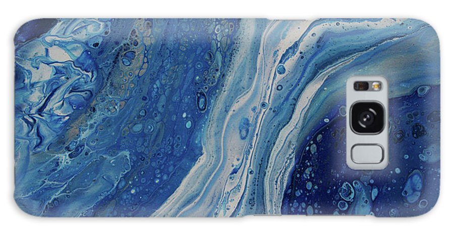 Blue Galaxy S8 Case featuring the painting Ice Currents by Nicole Hall