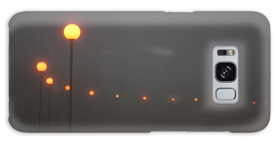Ice Fog Park Lamps Misty Cold Weather Eerie Galaxy S8 Case featuring the photograph Ice Fog And Park Lamps by Andrea Lawrence