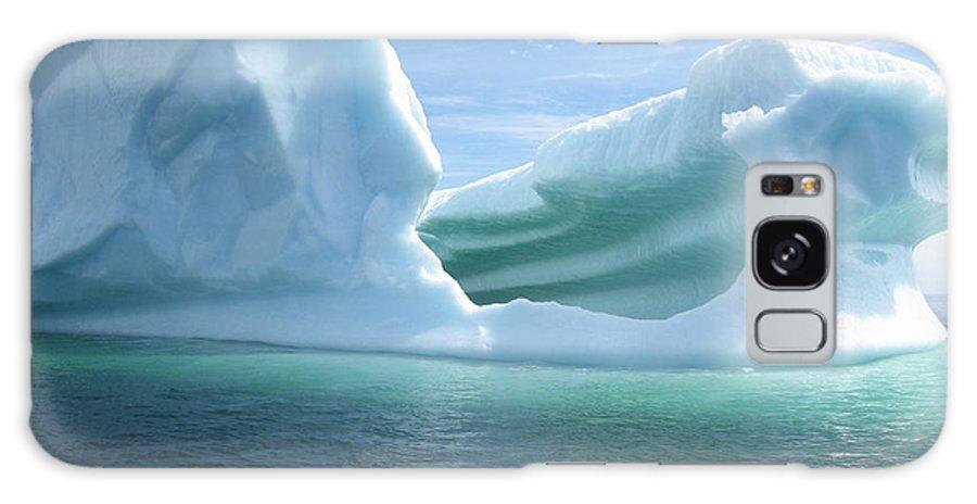 Photograph Iceberg Ocean Summer Newfoundland Galaxy Case featuring the photograph Iceberg by Seon-Jeong Kim