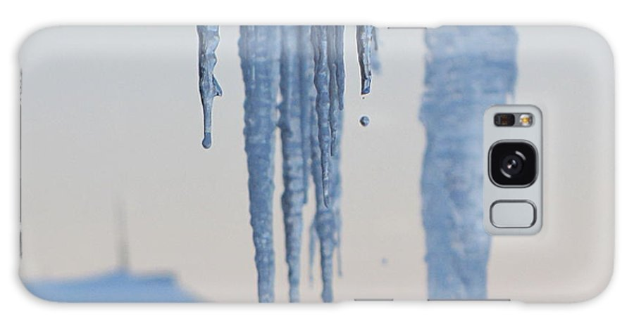 Icicles Galaxy Case featuring the photograph Icicles 3 by Melissa Parks