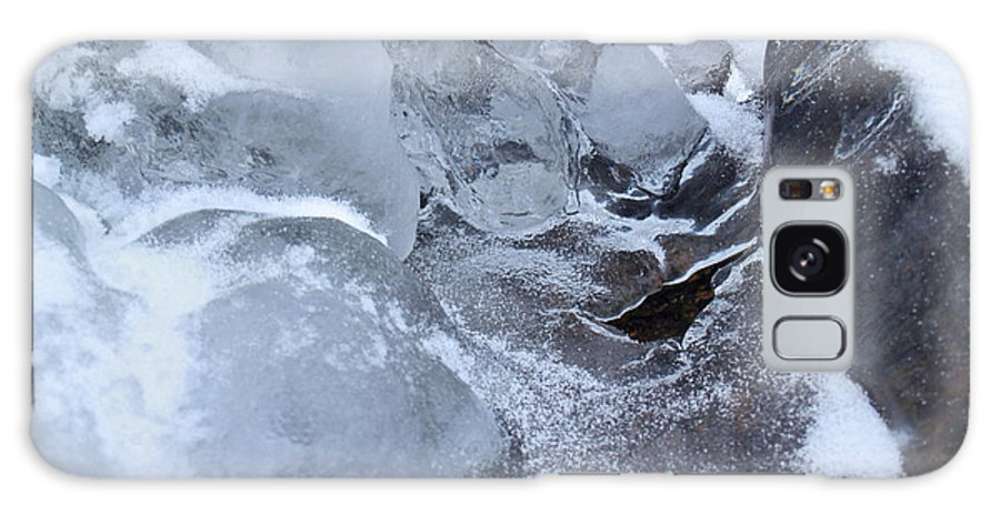 Snow Galaxy S8 Case featuring the photograph Icy Creek Forms In Pocono Mountains by Anna Lisa Yoder