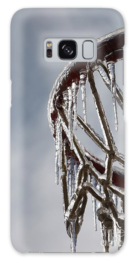 Basketball Galaxy Case featuring the photograph Icy Hoops by Nadine Rippelmeyer
