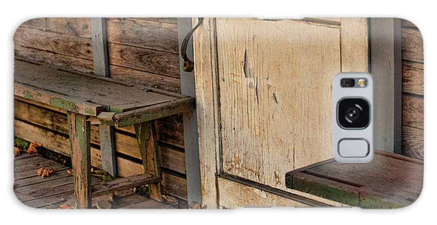Empty House Galaxy S8 Case featuring the photograph If This Porch Could Talk by Bonnie Bruno