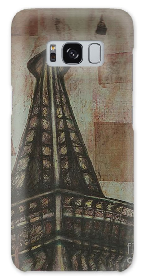 Structures Galaxy S8 Case featuring the painting Iffel Tower by Sidra Myers