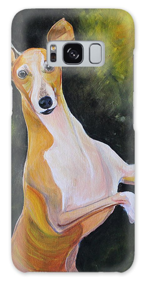 Studio Galaxy S8 Case featuring the painting Iggy by Sonya Delaney