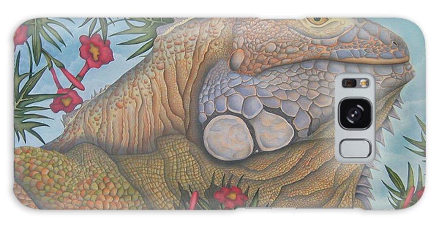 Lizard Galaxy S8 Case featuring the painting Iguana Iguana by Jeniffer Stapher-Thomas
