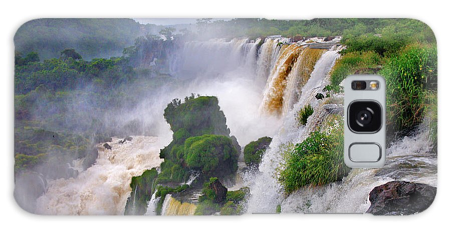 Iguazu Galaxy S8 Case featuring the photograph Iguazu Falls Ix by Bernardo Galmarini