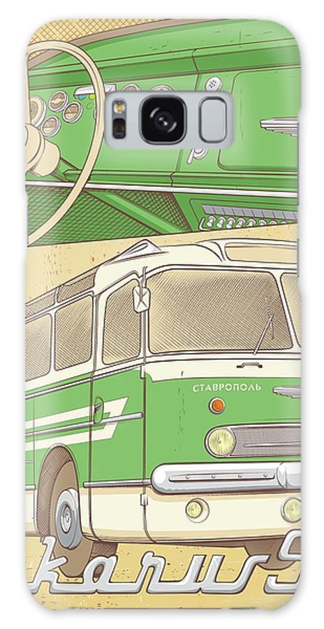 Bus Galaxy S8 Case featuring the painting Ikarus by Alexander Anisenkov
