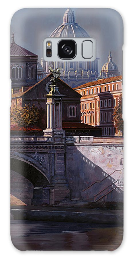 Rome Galaxy S8 Case featuring the painting Il Cupolone by Guido Borelli