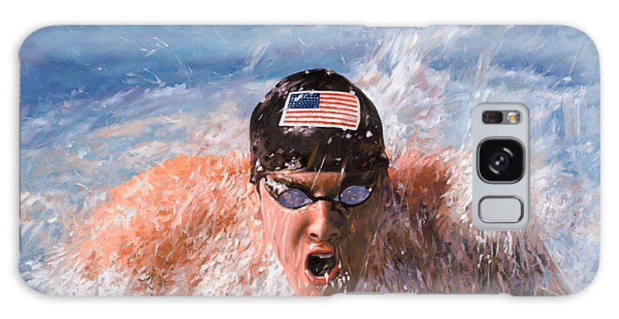 Swim Galaxy S8 Case featuring the painting Il Nuotatore by Guido Borelli