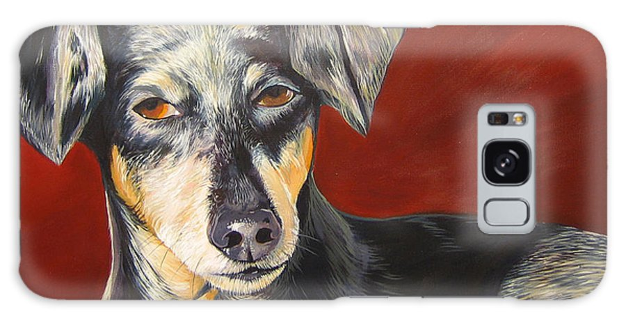 Dog Galaxy Case featuring the painting I'll Be With You Momentarily by Hunter Jay