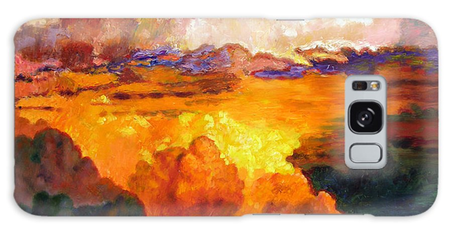 Clouds Galaxy Case featuring the painting Ill Fly Away O Glory by John Lautermilch