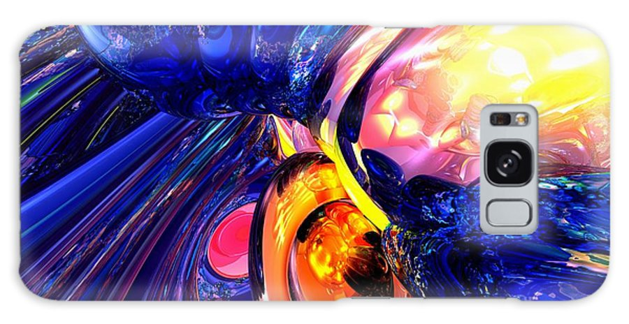 3d Galaxy S8 Case featuring the digital art Illuminate Abstract by Alexander Butler