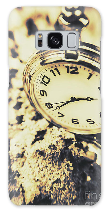 Clock Galaxy S8 Case featuring the photograph Illusive Time by Jorgo Photography - Wall Art Gallery