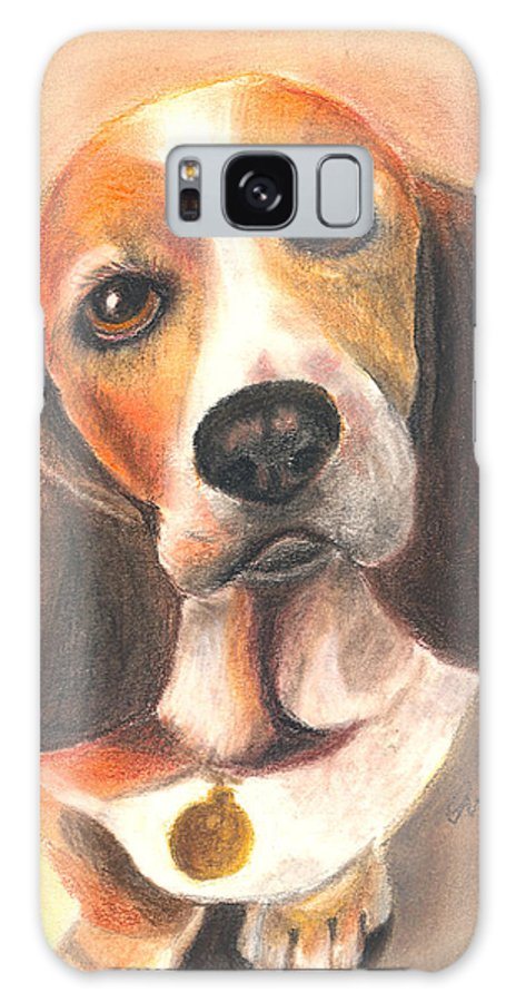 Dog Galaxy Case featuring the pastel I'm Innocent...the Cat Did It by Arline Wagner