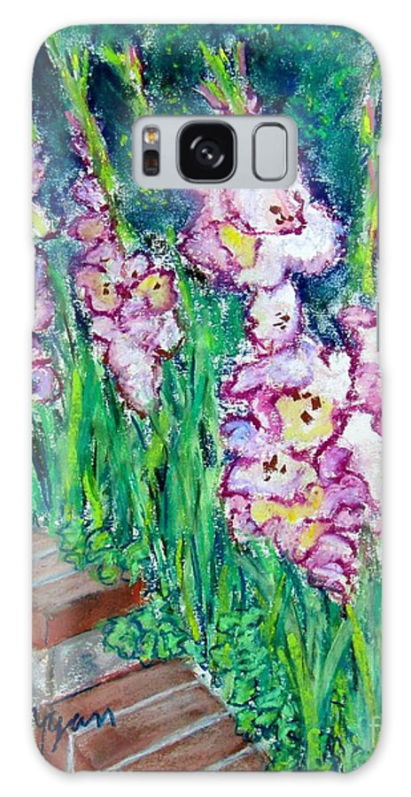Gladioli Galaxy S8 Case featuring the painting I'm So Glad by Laurie Morgan