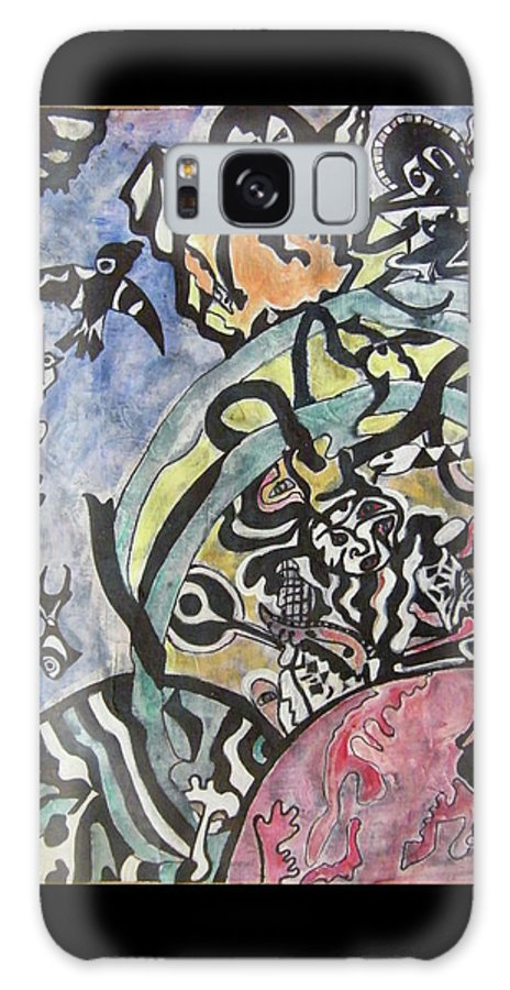 Psychology Galaxy S8 Case featuring the painting Images From The Collective Unconscious by Mimulux patricia No