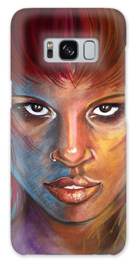 Pastels Galaxy Case featuring the drawing Imaginatti by Yxia Olivares
