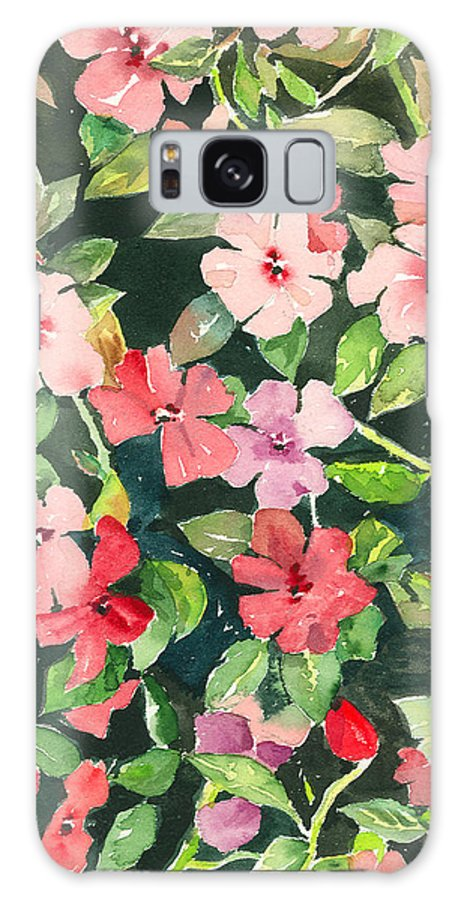 Impatiens Galaxy Case featuring the painting Impatiens by Arline Wagner