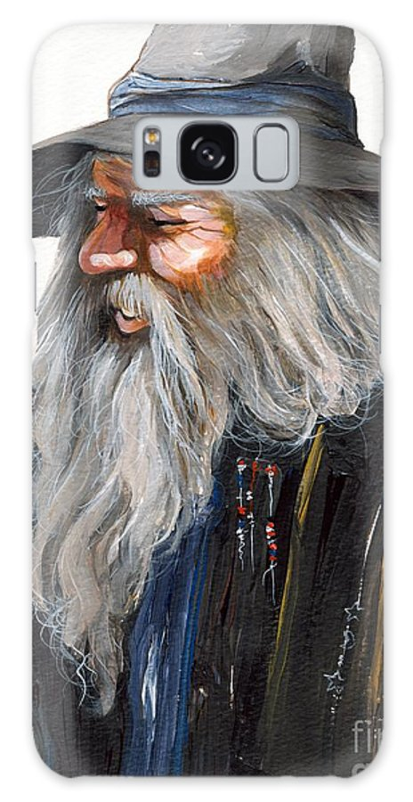 Fantasy Art Galaxy S8 Case featuring the painting Impressionist Wizard by J W Baker