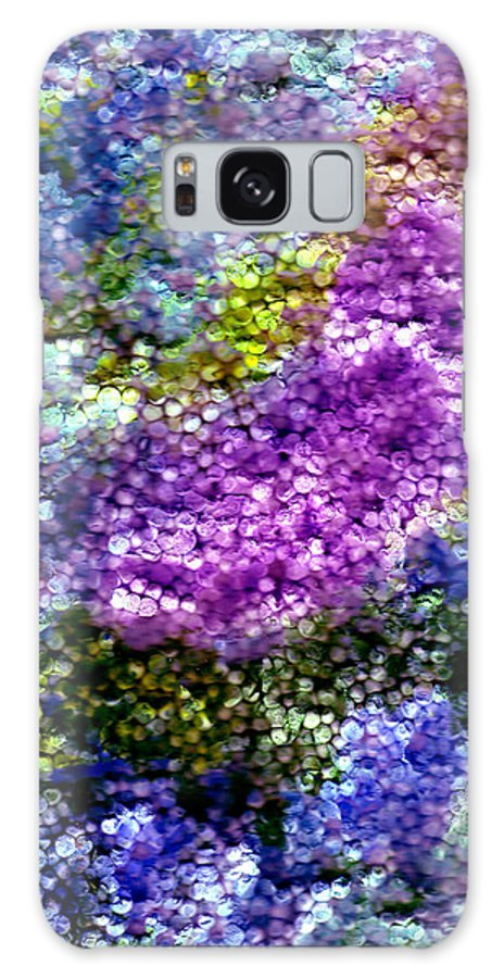 Abstract Galaxy Case featuring the painting Impressions From The Garden by Wayne Potrafka