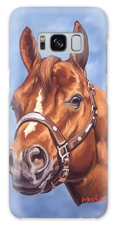 Quarter Horse Galaxy Case featuring the painting Impressive by Howard Dubois