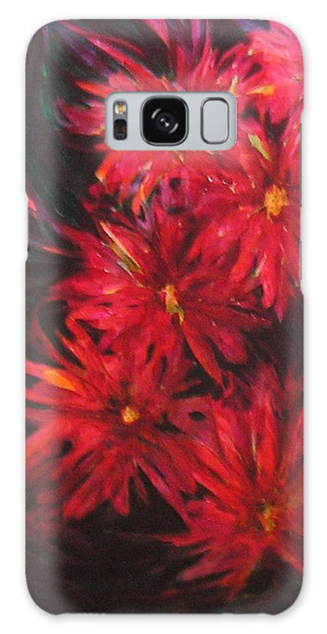 Flowers Galaxy Case featuring the painting In A Garden Of Red by Carolyn LeGrand