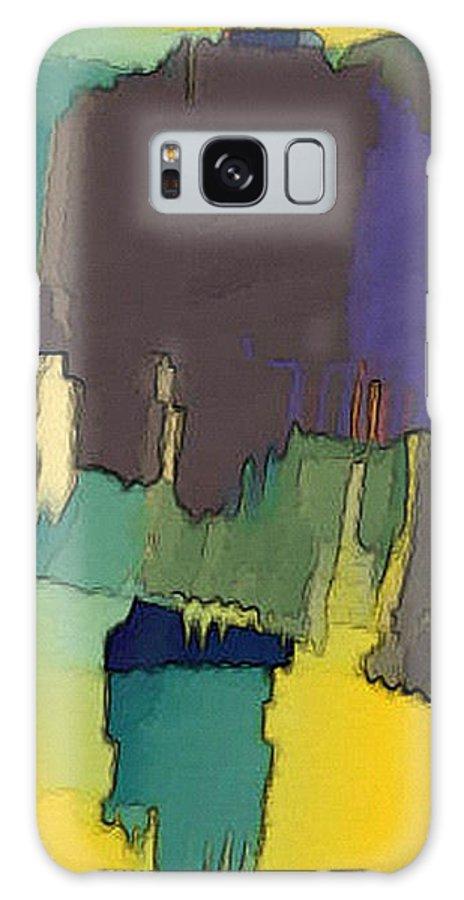 Digital Galaxy Case featuring the digital art In Der Wueste by Ilona Burchard