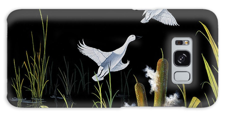 Birds Galaxy S8 Case featuring the painting In Flight by Don Griffiths