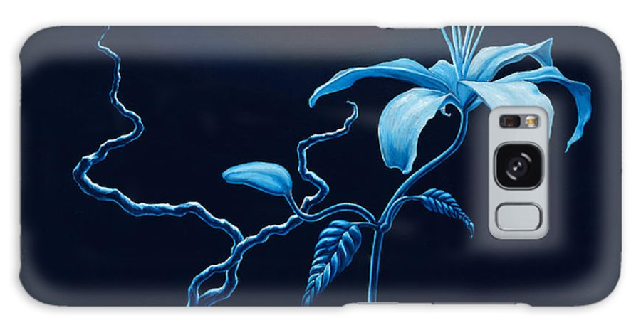 Lily Flower Galaxy Case featuring the painting In Memorial by Jennifer McDuffie