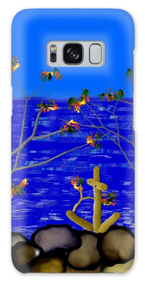 Memory Sign Galaxy Case featuring the digital art In Sailors Memory by Dr Loifer Vladimir