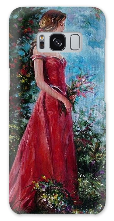 Figurative Galaxy S8 Case featuring the painting In Summer Garden by Sergey Ignatenko