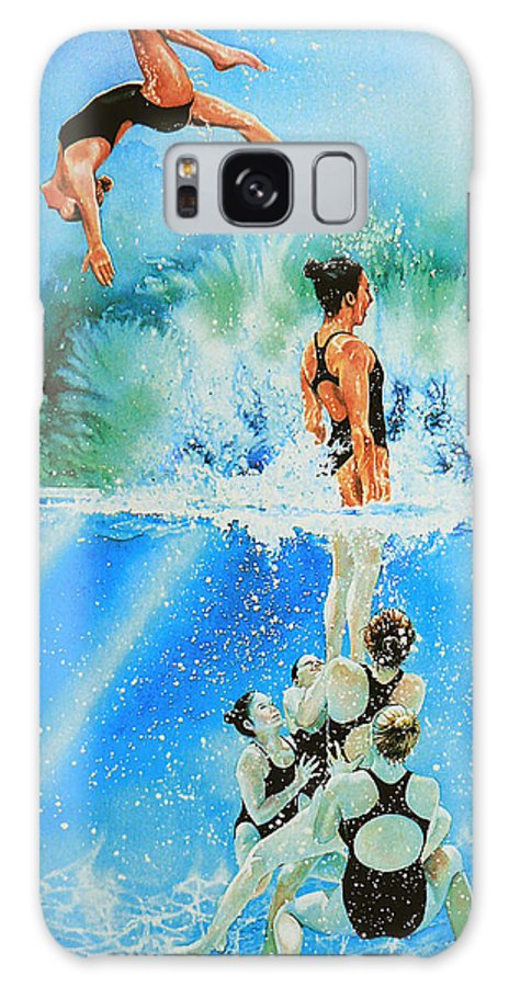 Swimming Galaxy S8 Case featuring the painting In Sync by Hanne Lore Koehler