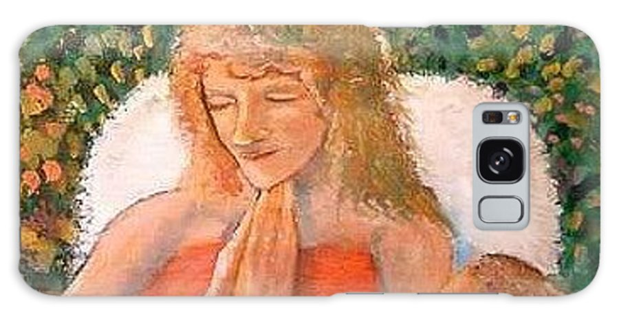 Angels Galaxy S8 Case featuring the painting In The Garden We Pray by J Bauer