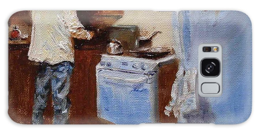 Cooking Galaxy S8 Case featuring the painting In The Kitchen by Barbara Andolsek